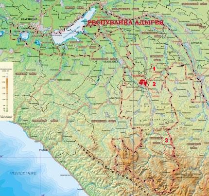 Обозначения на карте: