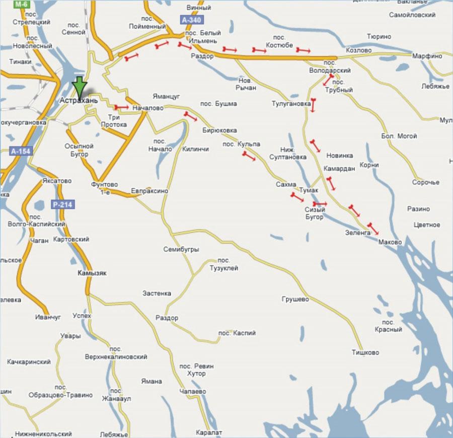 Карта проезда до Базы отдыха