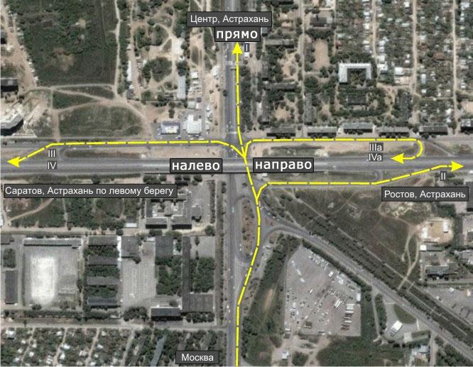 Вот карта «развилки» проезда